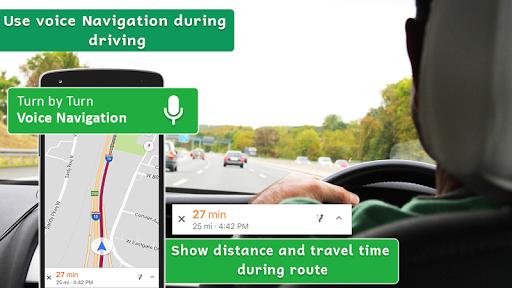 gps navigation maps & voice direction route finder screenshot 1