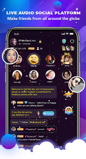 OyeTalk - Live Voice Chat Room android2mod screenshots 5