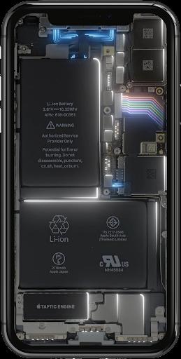 Phone Electricity Live Wallpaper  Screenshots 2