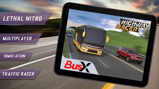 BusX Highway Racer: Traffic Racer: Bus Simulator  screenshots 1