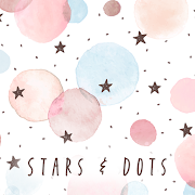 Pastel colors Wallpaper Stars & Dots Theme