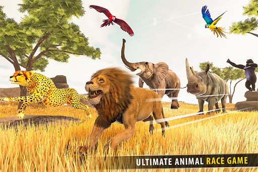 Savanna Animal Racing 3D: Wild Animal Games apkmartins screenshots 1