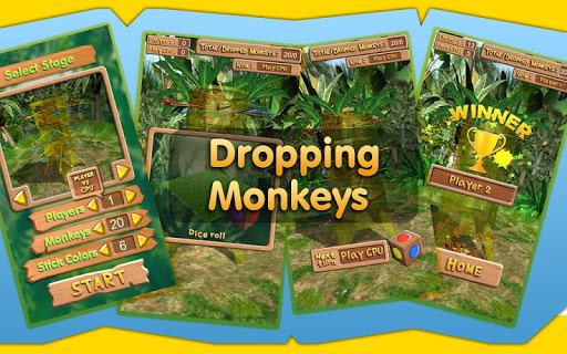 Dropping Monkeys 3D Board Game - Play Together.  screenshots 7
