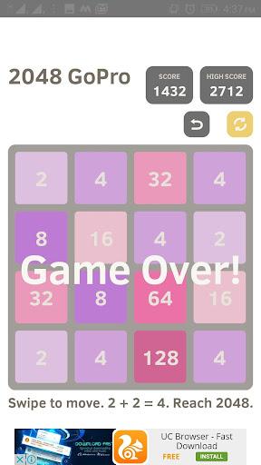 2048 go pro - puzzle game screenshot 2