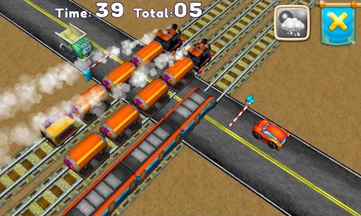 railroad signals, crossing. hack