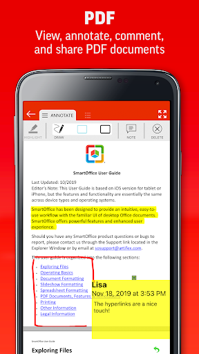 SmartOffice - View & Edit MS Office files & PDFs 3.9.10 Screenshots 5