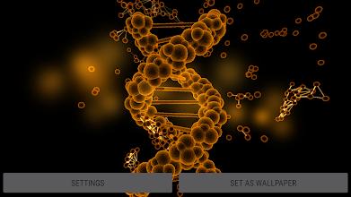 Particle Cells & Molecules 3D Live Wallpaper screenshot thumbnail