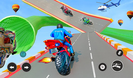 Police Bike Stunt GT Race Game Apkfinish screenshots 7