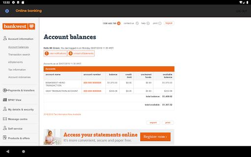 Bankwest  screenshots 12