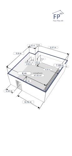 フロアプランAR |部屋の測定のおすすめ画像3