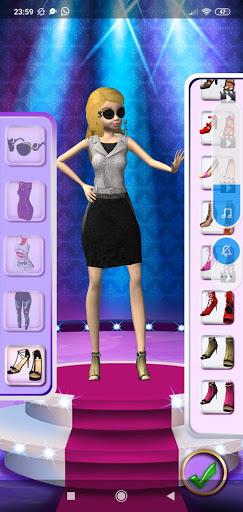 3D Fashion Superstar Dress Up screenshots 7