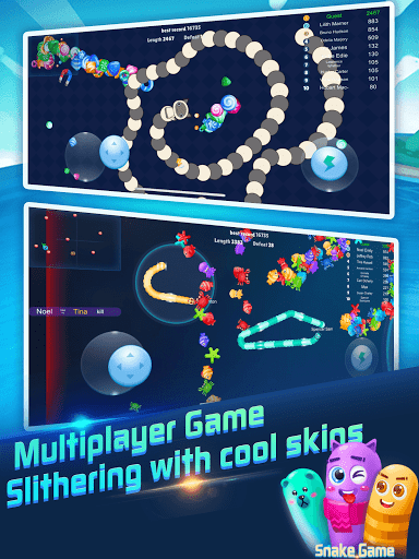 Snake Rivals.io - Slithery Eater in Worm Battle 1.7.2 screenshots 4