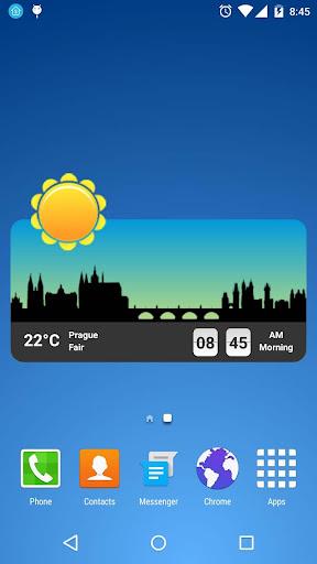 metro clock widget screenshot 2
