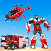 Rescue Robot Car Transform - FireTruck Robot Games