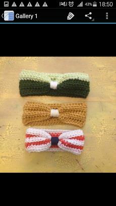 かぎ針編みのヘッドバンドのおすすめ画像1