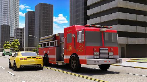 Robot Fire Fighter Rescue Truck  screenshots 2
