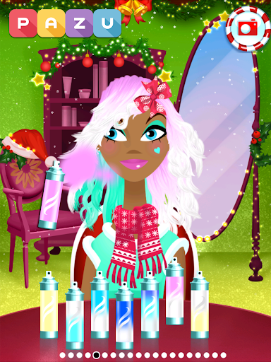 Girls Hair Salon Christmas - Hairstyling for kids 1.03 screenshots 10
