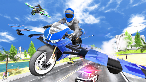 Flying Motorbike Simulator android2mod screenshots 19