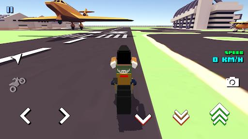 Blocky Moto Racing ud83cudfc1 - motorcycle rider  screenshots 3