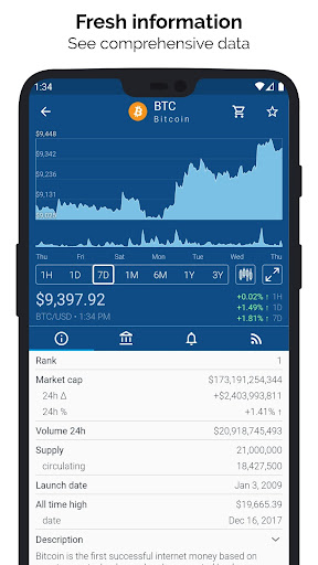Crypto App - Widgets, Alerts, News, Bitcoin Prices  Paidproapk.com 3