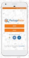 screenshot of PackageRadar