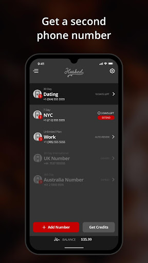 Hushed - Second Phone Number - Calling and Texting 5.4.2 screenshots 1