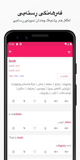 Rebin Dictionary Plus - Kurdish 4.1 Screenshots 2