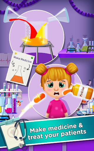 Télécharger Doctor Hospital Stories - Rescue Kids doctor Games APK MOD (Astuce) screenshots 2