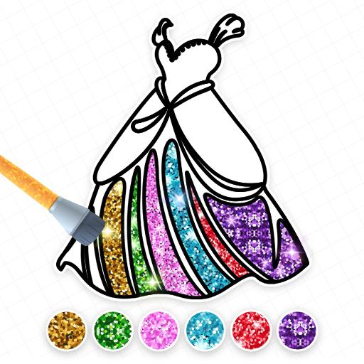 Princess Coloring Book: Fun Dressing Game