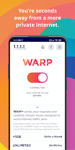1.1.1.1: Cloudflare DNS Mod Apk (Free WARP+) 2