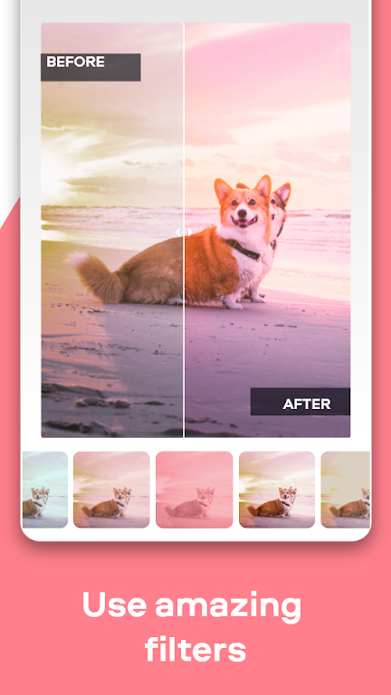 Movavi Picverse photo editor app: filters, presets  poster 1