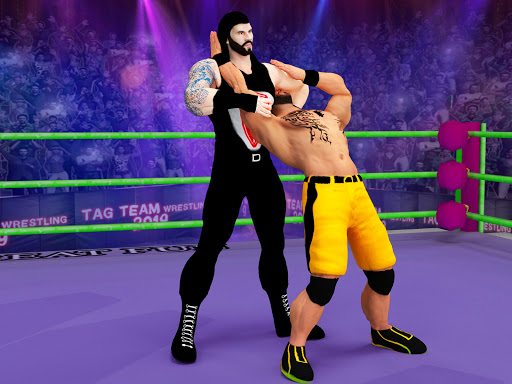 Tag Team Wrestling Games: Mega Cage Ring Fighting modavailable screenshots 13