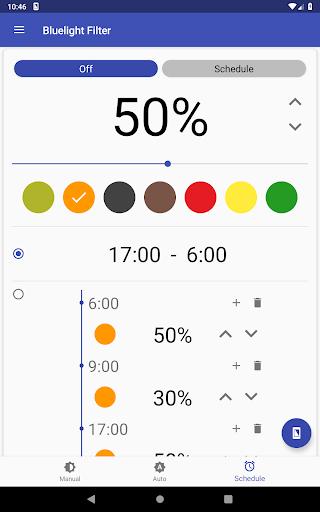 Bluelight Filter for Eye Care - Auto screen filter 3.7.1 Screenshots 11