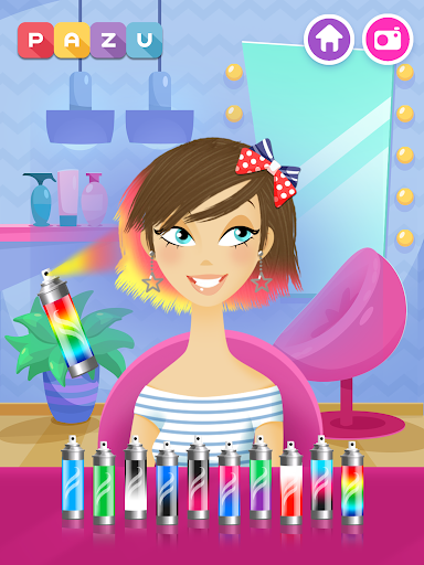 Girls Hair Salon - Hairstyle makeover kids games 2.86 screenshots 10
