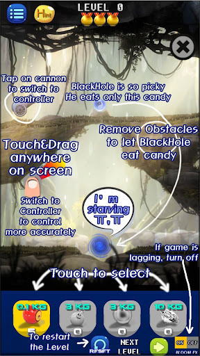 brain puzzle: hungry black hole physics drop logic screenshot 1