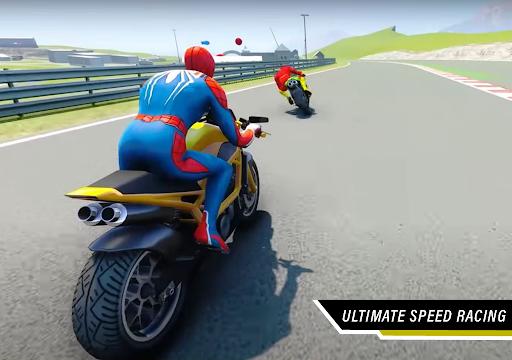 Superhero Tricky Bike Stunt Racing 2021  screenshots 15