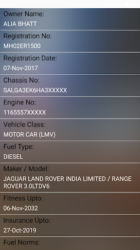 How to find Vehicle Car Owner detail from Number 2.4 Screenshots 10