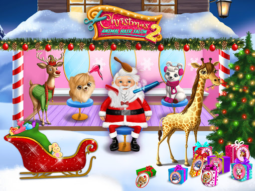 Christmas Animal Hair Salon 2  Screenshots 10