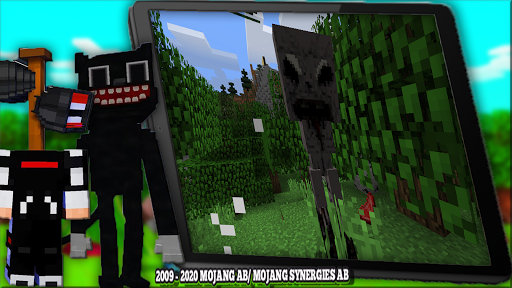 Horror Cartoon Cat Mod For MCPE & Siren Head 2021  screenshots 16