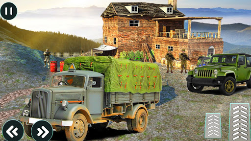 drive army truck check post: army transport games screenshot 2