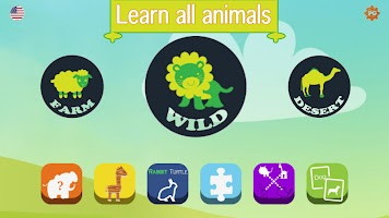 Animals for Kids - Flashcards, Puzzles & Sounds