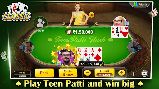 teen patti flush: 3 patti poker screenshot 1