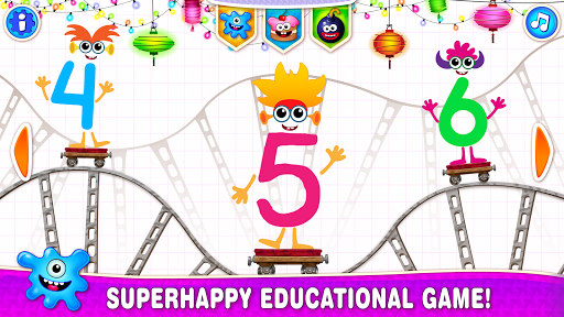 Learning numbers for kids! Writing Counting Games! apkslow screenshots 1