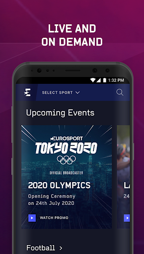 Eurosport Player - Live Sport Streaming App modavailable screenshots 5