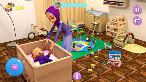 Real Mother Baby Games 3D: Virtual Family Sim 2019 1.0.6 screenshots 2