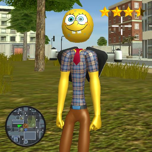 Baixar Stickman Sponge Jetpack Crime para Android