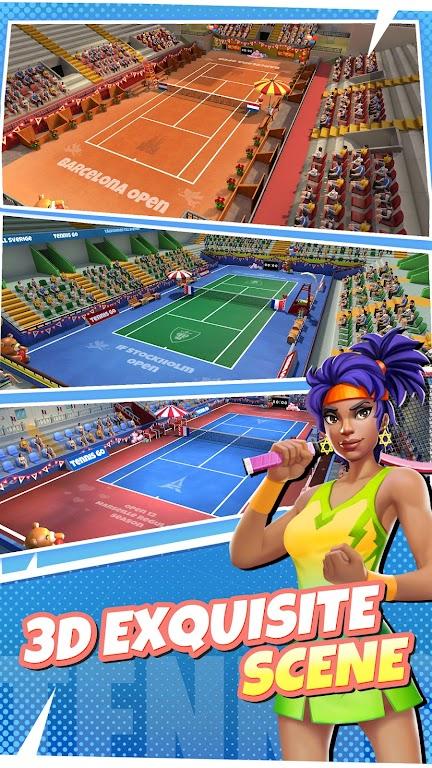 Tennis Go: World Tour 3D  poster 1