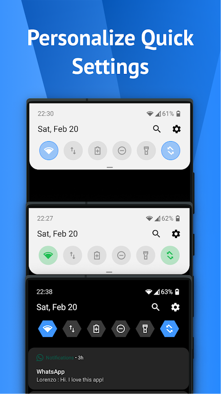 One Shade: Custom Notifications and Quick Settings poster 1