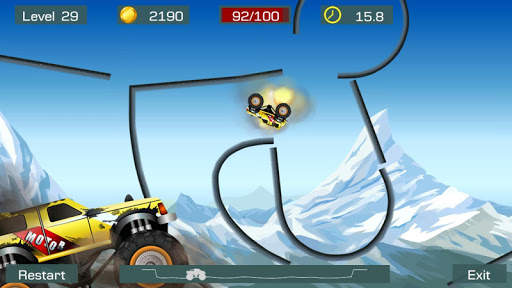 Monster Stunts -- monster truck stunt racing game apkslow screenshots 5
