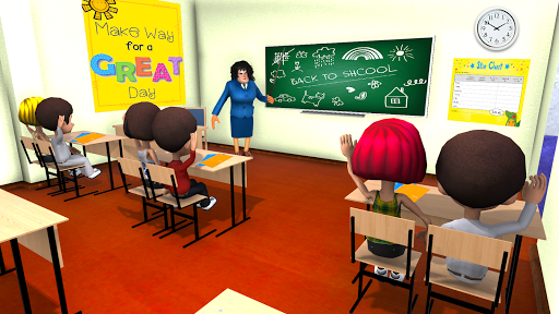 Scary Evil Teacher Games: Neighbor House Escape 3D screenshots 2